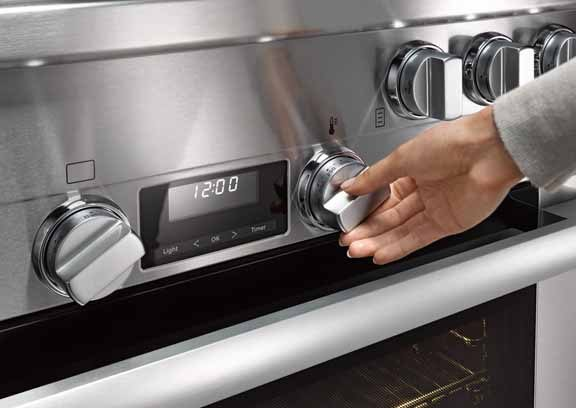 "miele 36"" all gas range clean touch steel"