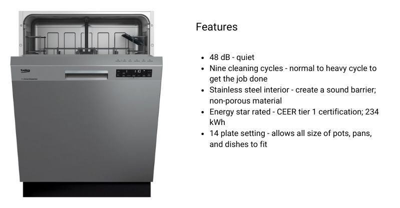BEKO-DUT25401X-best-dishwashers-under-500