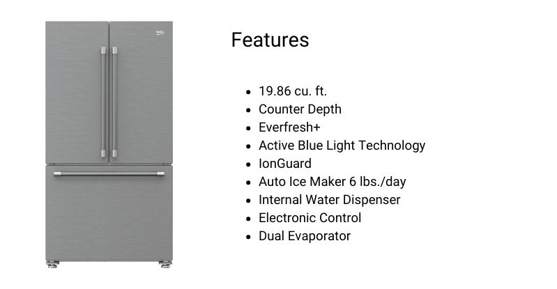 Beko Counter Depth Refrigerator
