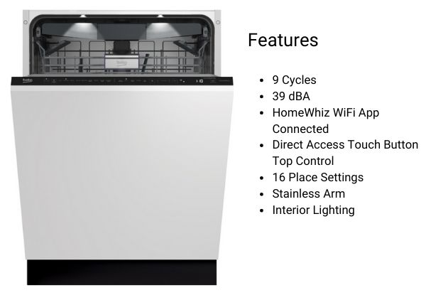 Beko Panel-Ready Dishwasher DIT39432 (1)