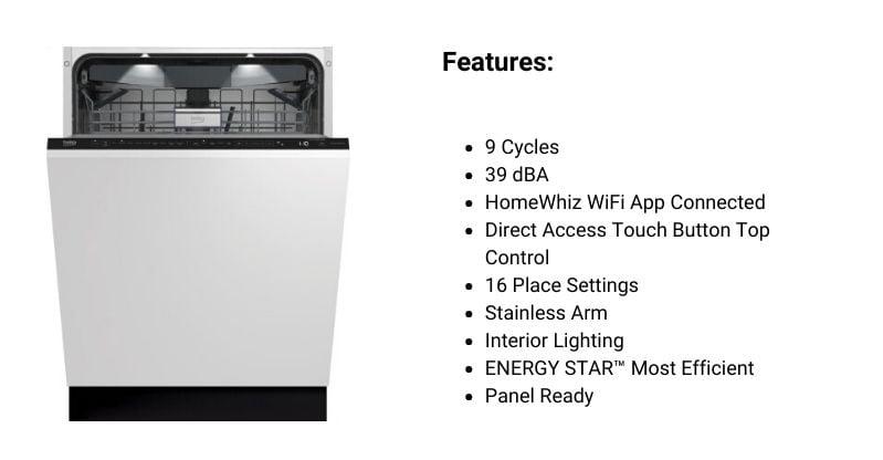 Beko Panel-Ready Dishwasher