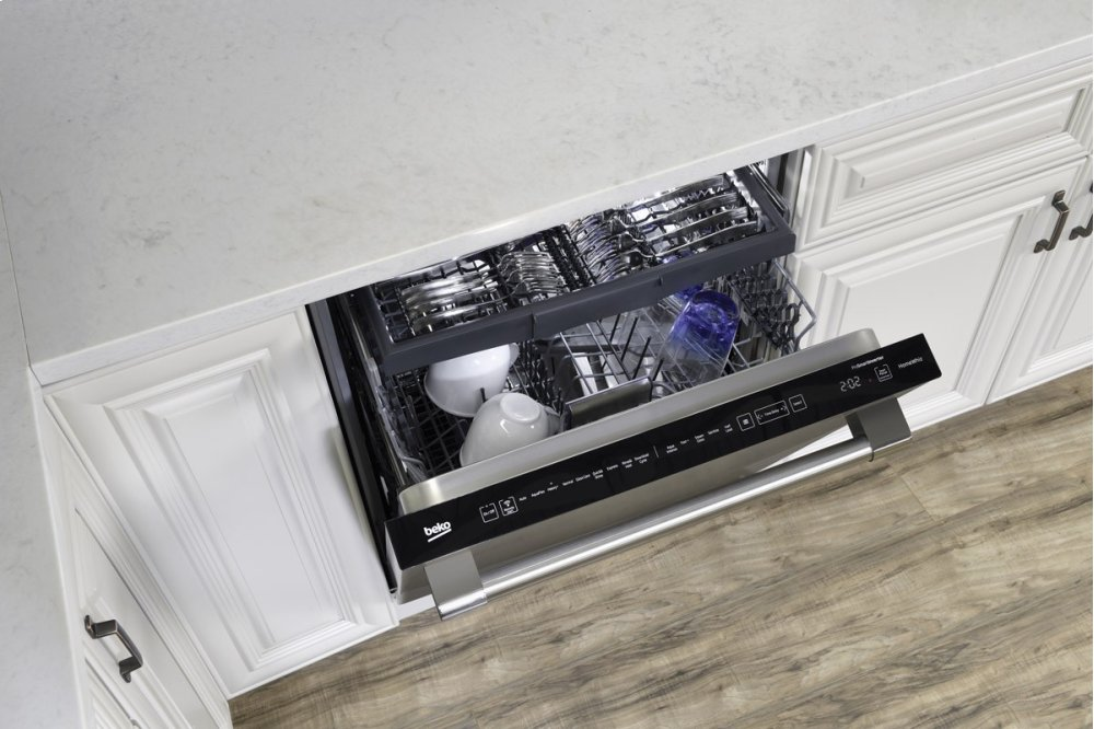 Beko dishwasher featuring controls