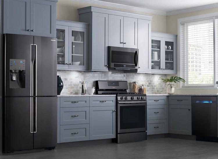 black stainless steel kitchen packagesjpg - Kitchenaid Reviews