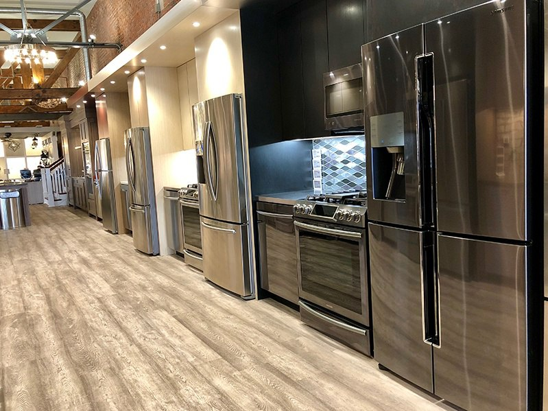 Black Stainless Steel and Stainless Steel Kitchen Packages - Boston Showroom