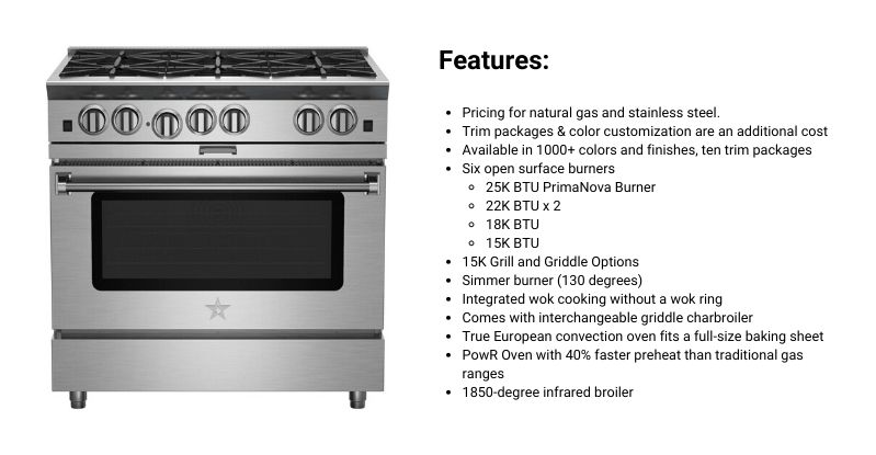 BlueStar Platinum 36-Inch Professional Range
