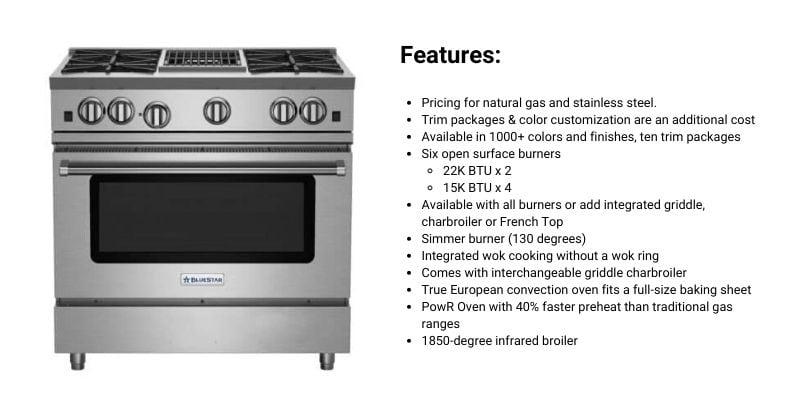 BlueStar RNB Series 36-Inch Professional Range