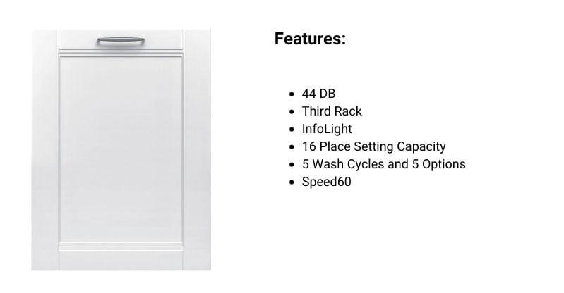 Bosch 300 Series Panel-Ready Dishwasher