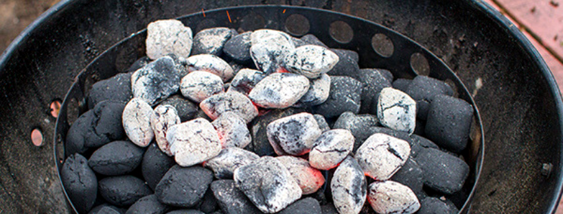 Charcoal Briquettes in a Weber