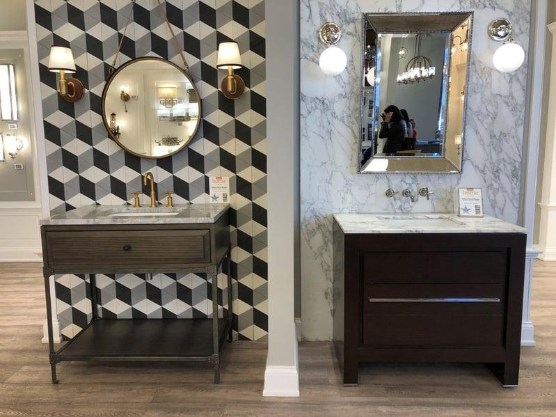 Dorchester Showroom Bathroom Sconces