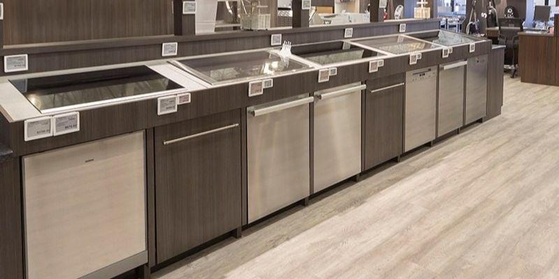 European Dishwasher Display At Yale Appliance