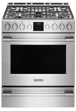 Frigidaire Professional 30'' Freestanding Front Control Gas Range FPGH3077RF