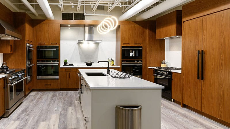 Fisher-and-Paykel-kitchen-at-yale-appliance-in-hanover-featuring-paneled-integrated-refrigerator