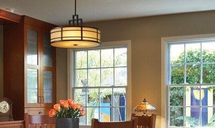 "Feiss ""Fusion Collection"" Pendant craftsman lighting"