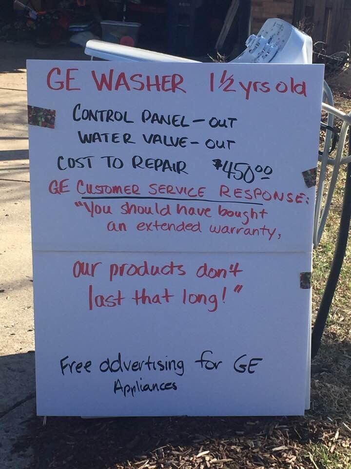 GE Washer- Photo Courtesy of Reddit