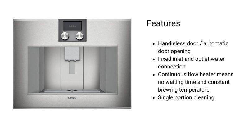 Gaggenau Built-In Coffee Machine (2)
