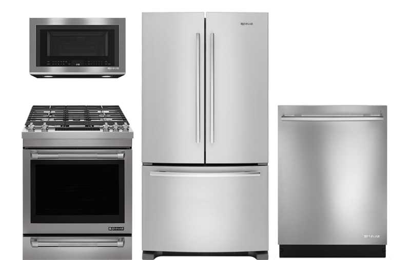 Jenn Air Counter Depth Package Refrigerator And Gas Range