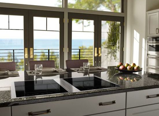 Jenn-Air Kitchen with downdraft cooktop-1