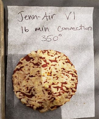 JennAir Convection Oven Test with Pizza