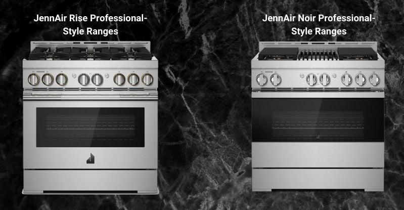 JennAir Rise & Noir 36-Inch Professional Gas Range