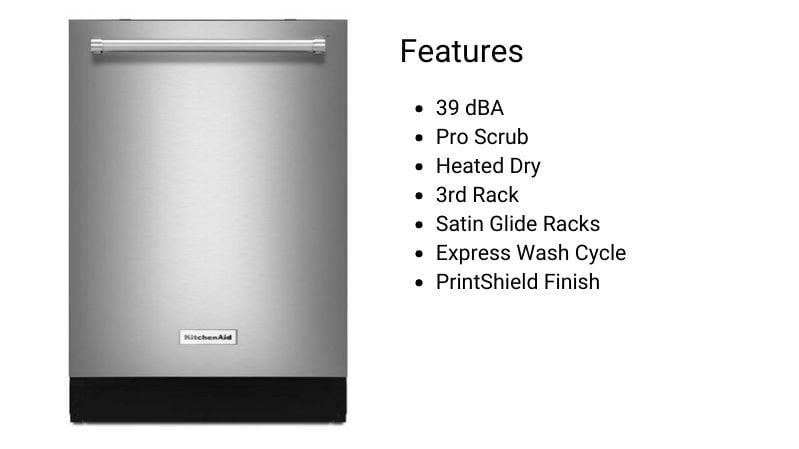 KitchenAid Dishwasher KDTE204KPS
