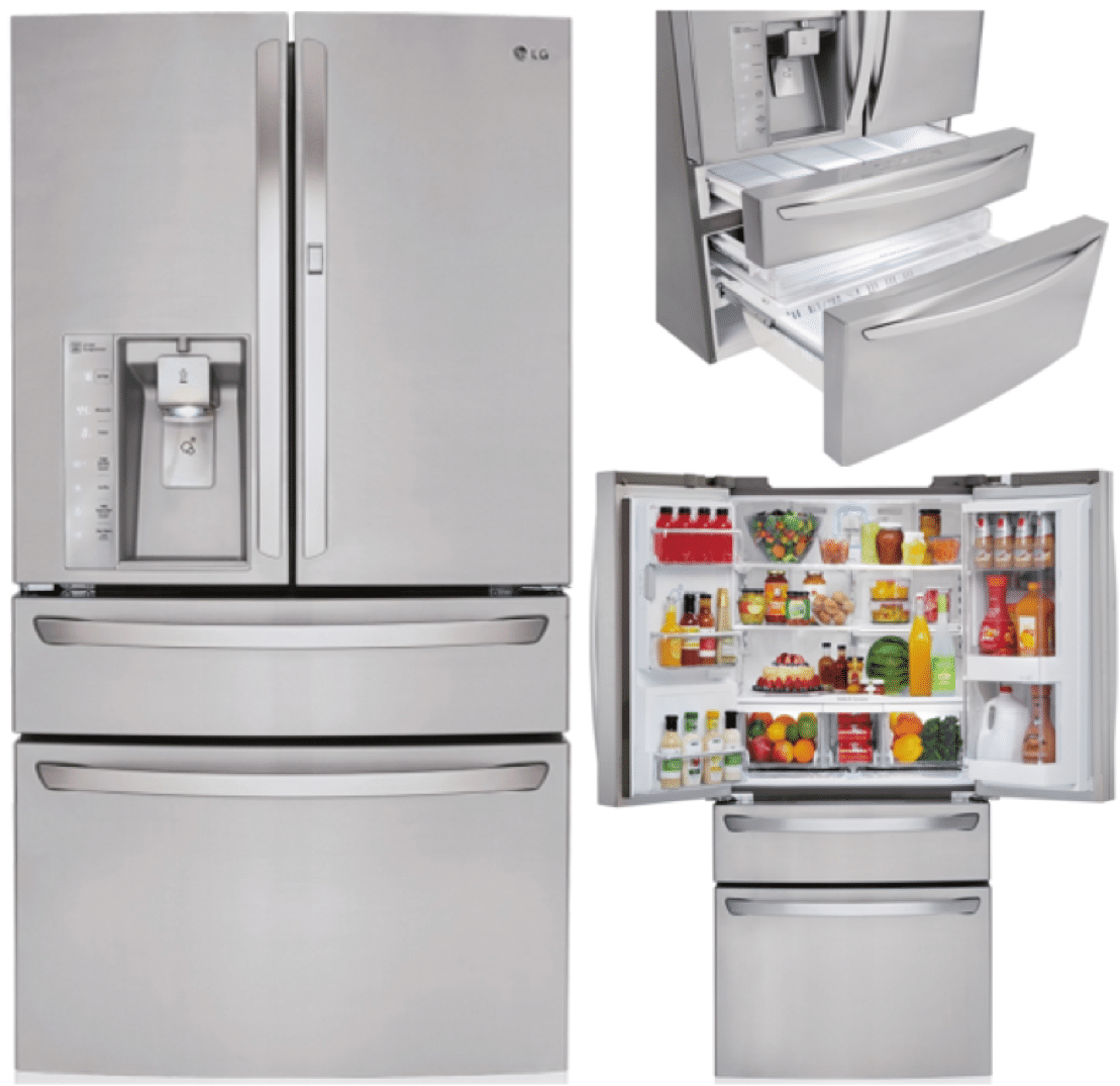 Best double drawer french door refrigerators reviews ratings lg lmxs30776s 3599 rubansaba