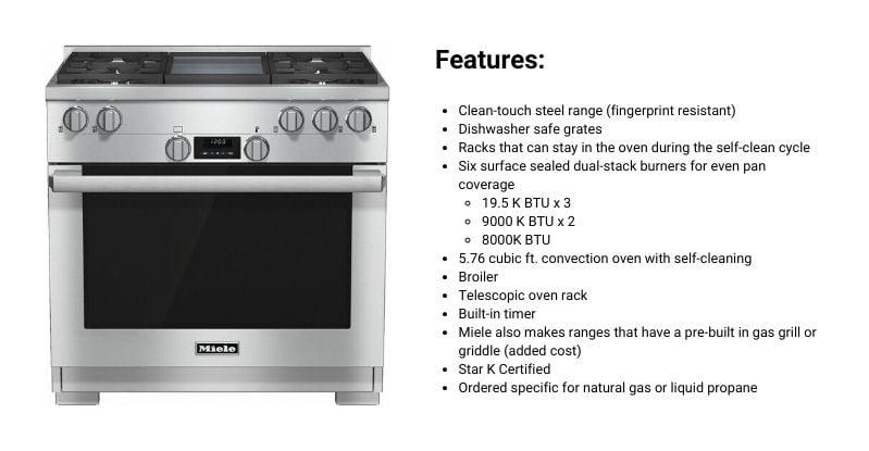 Miele 36-Inch Professional Gas Range