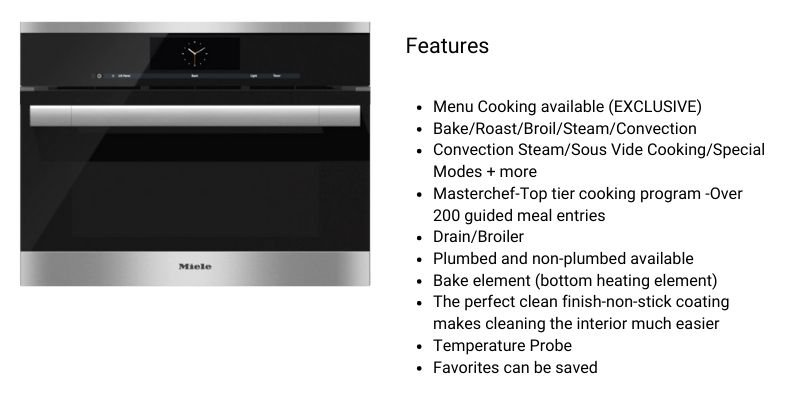 Miele DGC67051XL Steam Ovens