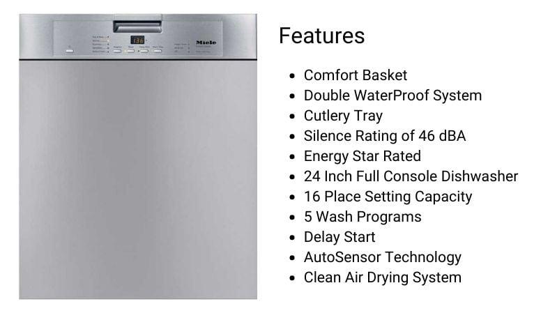 Miele Dishwasher G4228SCUSS