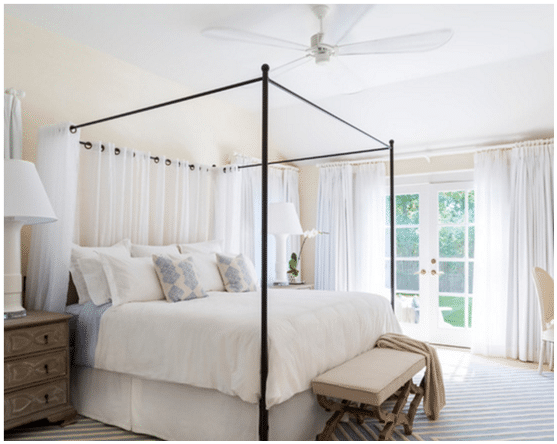 "Minka Aire Iconic 60"" Ceiling Fan in Bedroom.png"