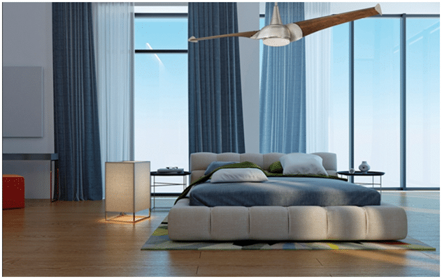 Monte Carlo Max Collection Ceiling Fan in Bedroom.png