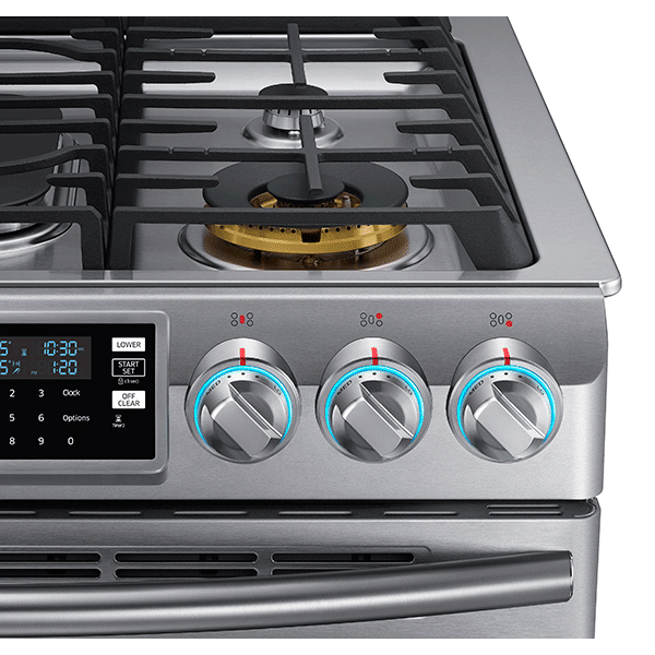 Samsung NX58K9850SG Convection, Slide-In Gas Range Controls