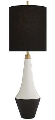 Neale Table Lamp in Leather Ceramic and Satin Black with Black Linen Shade.jpg