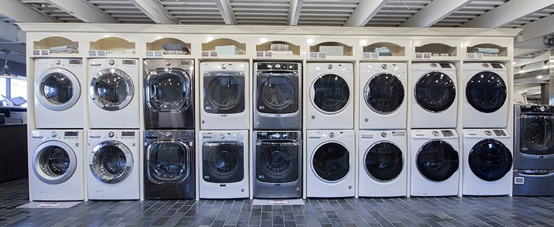 New Boston Front Load Washer Display