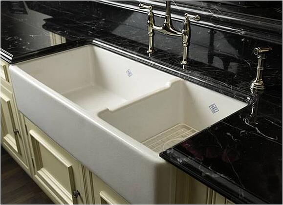 Porcelain Farm Sink Kitchen