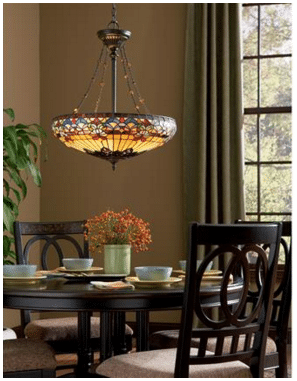 "Quoizel ""Belle Fleur"" Pendant TF1781VB craftsman lighting"