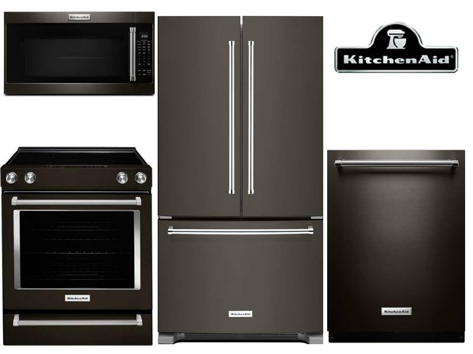 KitchenAid Black Stainless Kitchen Package U2013 Electric $5,254