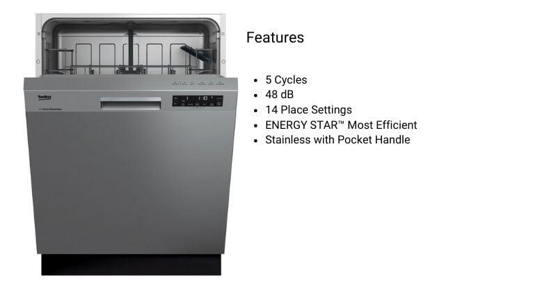 Quiet-Dishwashers-Beko-Dishwasher-DUT25401X