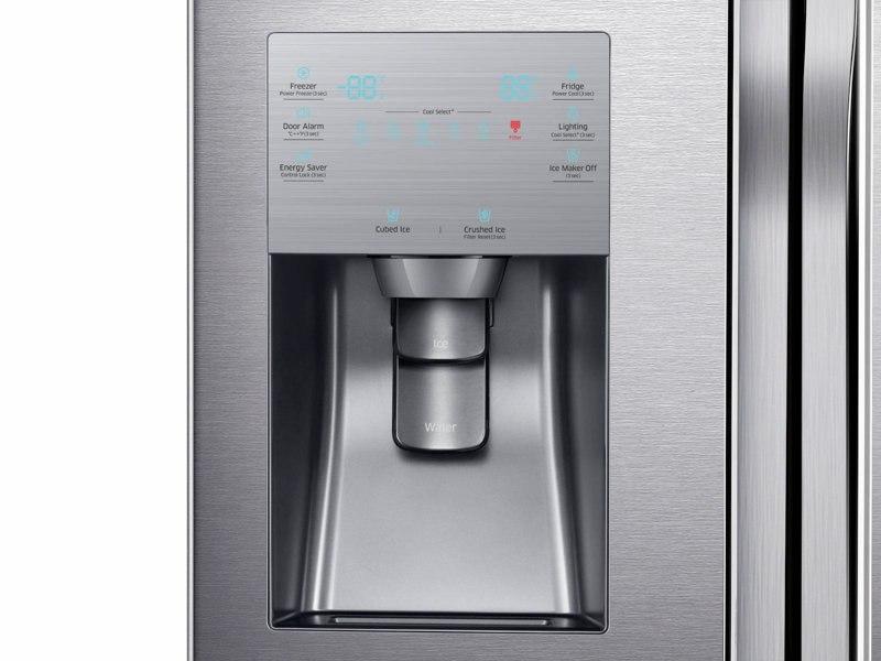 RF23J9011SR_05_Refrigerator_French-Door_RF23J9011SR_Control_Panel_Water_Dispenser_Silver_20171024