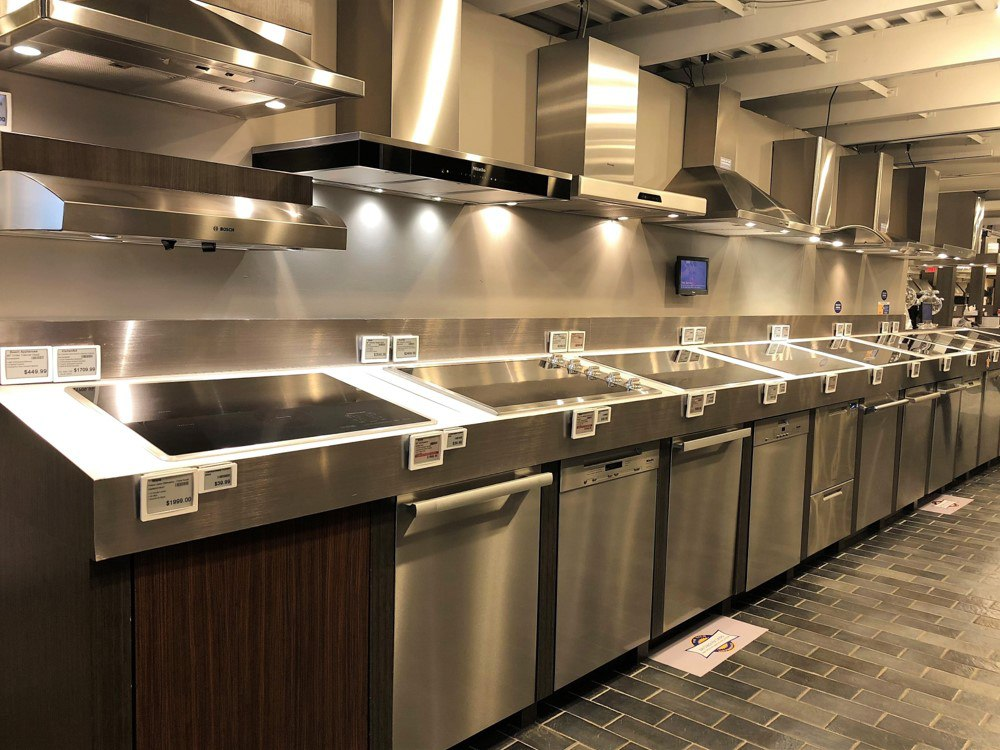 Range Hood Display - Boston Showroom