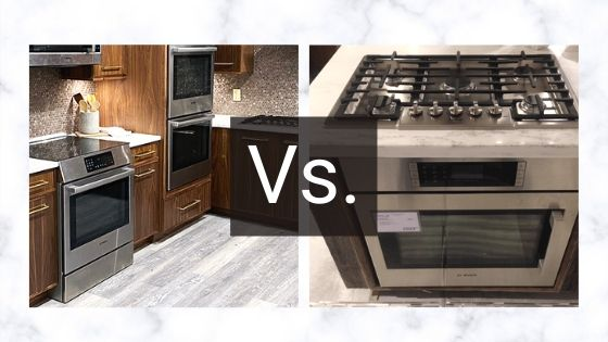 Range vs cooktop over wall oven