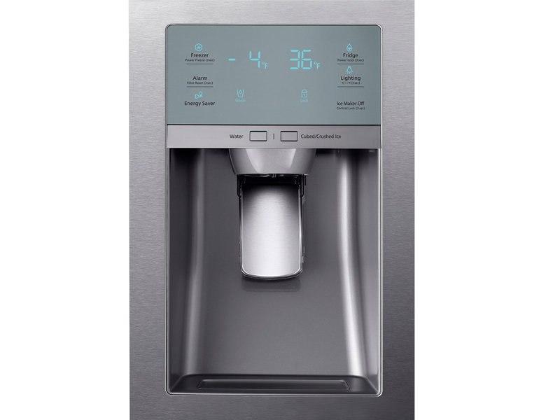 Refrigerator_French-Door_RF22KREDBSR_Control_Panel-Water_Dispenser_Silver