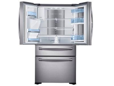 Refrigerator_French-Door_RF22KREDBSR_Front-top-Doors_Open_Empty_Silver