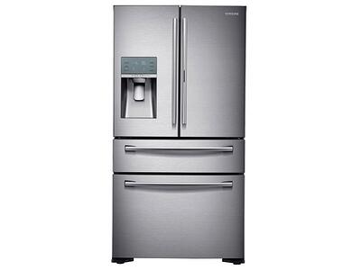 Refrigerator_French-Door_RF22KREDBSR_Front_Closed_Silver