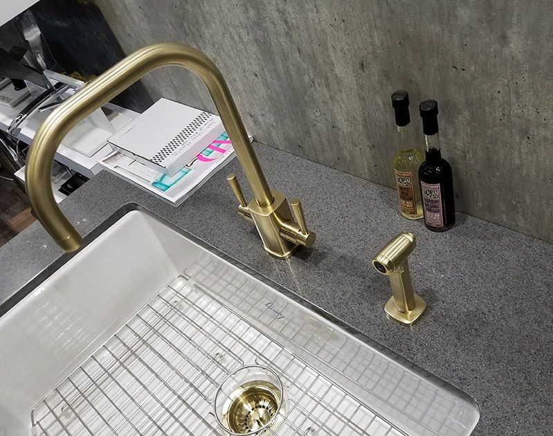 Rohl Gold Faucet 2018 Architectural Digest Design Show