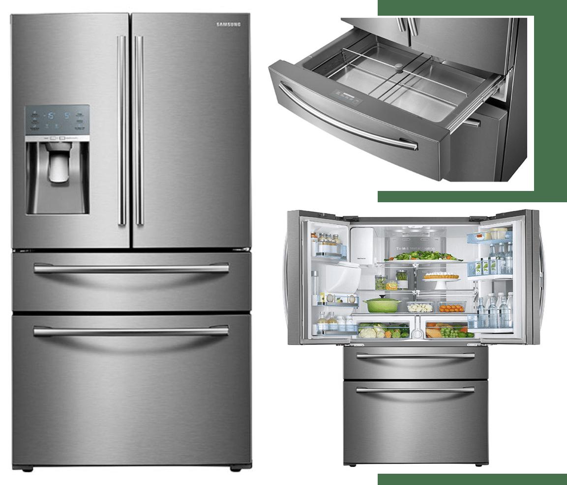 Best double drawer french door refrigerators reviews ratings samsung rf28jbedbsr 2899 rubansaba