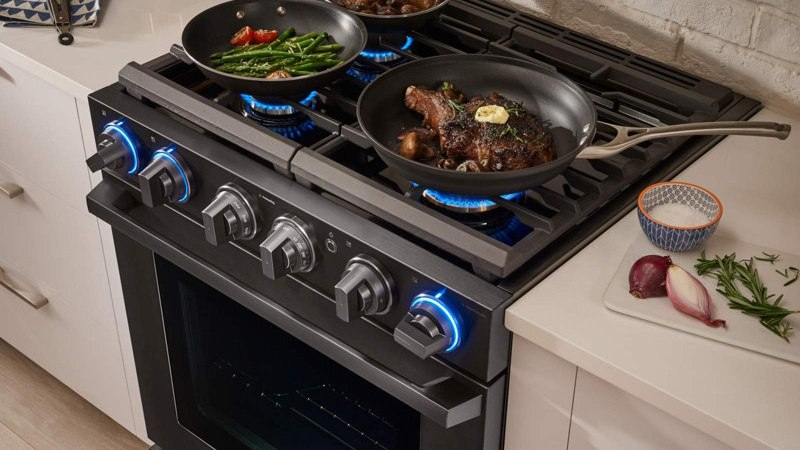 The Samsung Chef Collection Professional Gas Range Nx58m9960pm