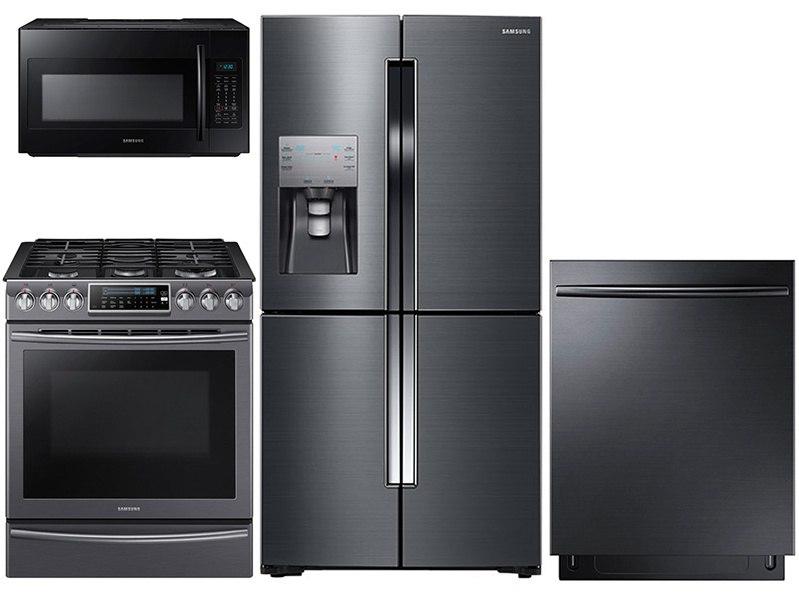 Samsung Black Stainless Steel Kitchen Package