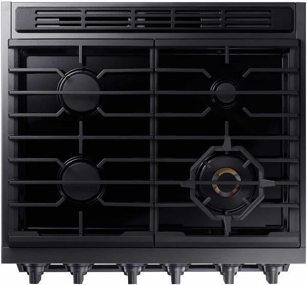 Samsung Chef Collection Pro Gas Range NX58M9960PM Cooktop (1)