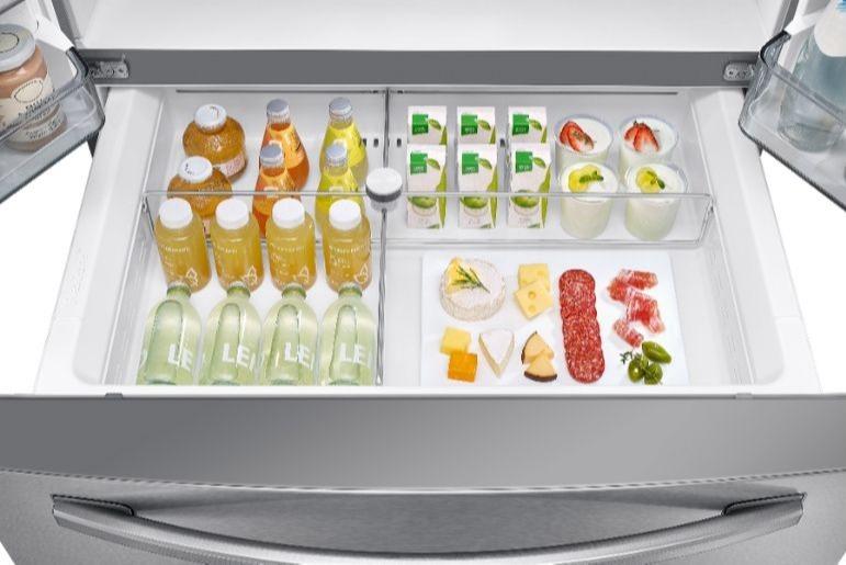 Samsung Counter Depth Refrigerator RF24R7201SR With Second Drawer
