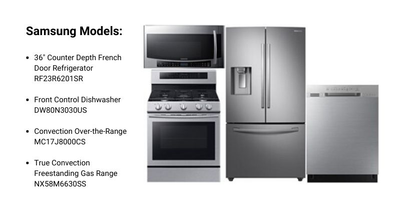 Samsung Counter-Depth Appliance Package